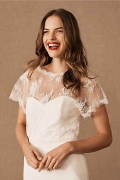 Chanson Topper In Ivory - Size: L
