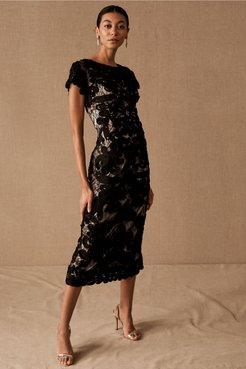 Js Collection Santiago Dress In Black/almond - Size: 16 - at BHLDN
