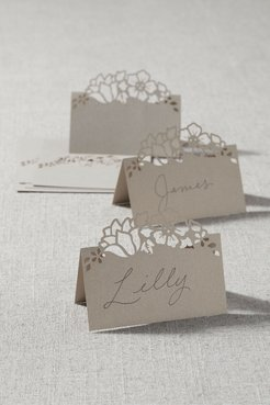 Floral Laser Cut Place Cards (8) In Gold - Size: One Size - at BHLDN