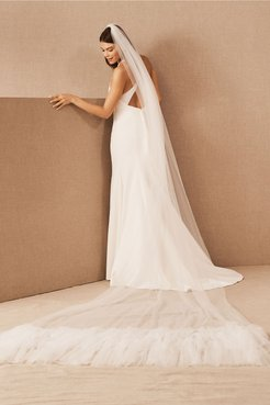 A. B. Salina Veil In Ivory - Size: One Size - at BHLDN