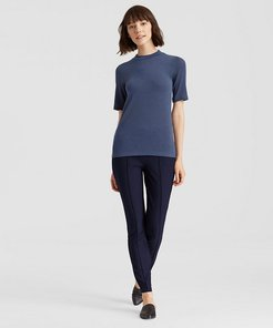 Washable Stretch Crepe Pintuck Pant