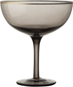 Set Of 6 Deco Champagne Flutes