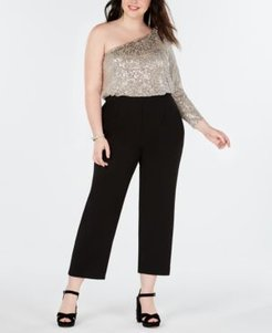 Plus Size One-Shoulder Jumpsuit