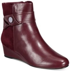 Gratia Wedge Booties (Created for Macy's) Women's Shoes