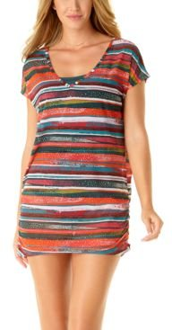 Sand Stripe Printed Cover-Up Women's Swimsuit
