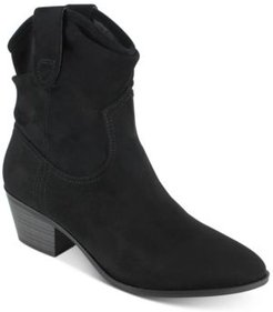 Polina Pleated Western Booties Women's Shoes