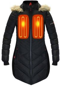 5V Battery Heated Long Puffer Jacket with Hood
