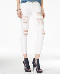 Ripped Ordeal Cropped Skinny Jeans