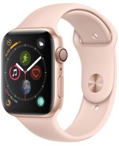 Gps, 44mm Gold Aluminum Case with Pink Sand Sport Band