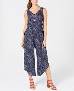 Petite Printed Jumpsuit, Created for Macy's