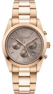 Universal Chronograph with Rose Gold Ip Stainless Steel Case and Bracelet and Grey Dial