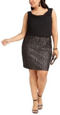 Trendy Plus Size Lace-Skirt Sheath Dress