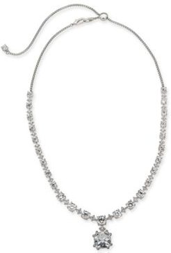 """Danori Silver-Tone Crystal 18"""" Adjustable Statement Necklace, Created For Macy's"""