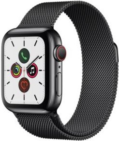 Gps + Cellular, 40mm Space Black Stainless Steel Case with Space Black Milanese Loop