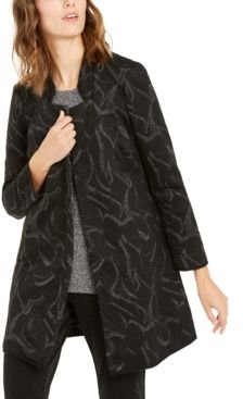 Metallic-Print Jacquard Topper Jacket, Created For Macy's