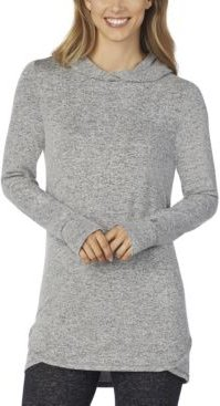 Soft-Knit Long-Sleeve Tunic Hoodie