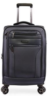 """Harbor 21"""" Softside Carry-On Luggage with Charging Port"""