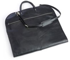 Royce New York Pebbled Leather Garment Bag