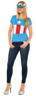 Marvel Avengers Women's American Dream Adult Costume Top and Mask