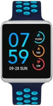 Unisex Air Navy & Turquoise Silicone Strap Touchscreen Smart Watch 41x35mm, A Special Edition