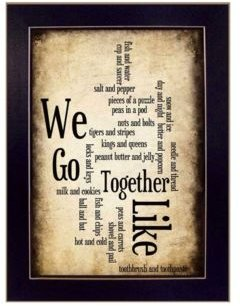 """We Go Together I By Susan Ball, Printed Wall Art, Ready to hang, Black Frame, 14"""" x 10"""""""