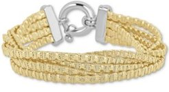 Multi-Strand Chain Bracelet in 14k Gold-Plated Sterling Silver