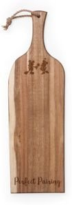 """Toscana by Picnic Time Mickey and Minnie Silhouette Artisan 24"""" Acacia Serving Plank & Cutting Board"""