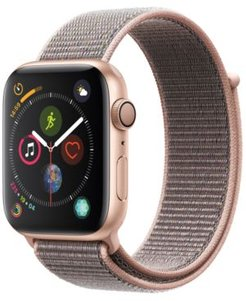 Gps, 44mm Gold Aluminum Case with Pink Sand Sport Loop