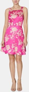 Floral-Print Tiered Fit & Flare Dress