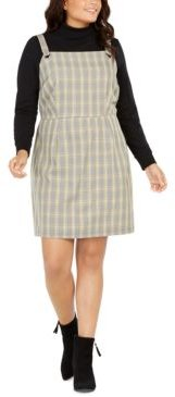 Trendy Plus Size Plaid Jumper Dress