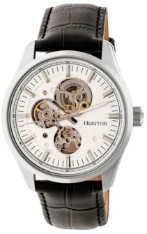Automatic Stanley Silver Leather Watches 43mm