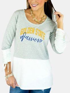 Golden State Warriors Embellished Tunic Top