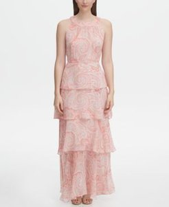 Printed Chiffon Tiered Maxi Dress, Created for Macy's