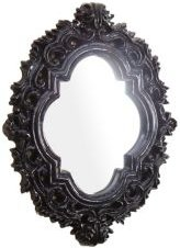 Kuuma Black Resin Wall Mirror