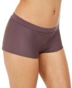 Juniors' Solid Boy Short Bottoms, Created For Macy's Women's Swimsuit