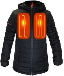 5V Battery Heated Puffer Jacket with Hood