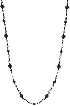 Hematite Color Long Link Faceted Necklace