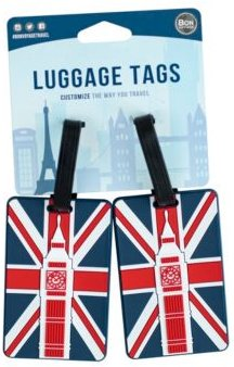 City Themed 2-Pc. Luggage Tag Set