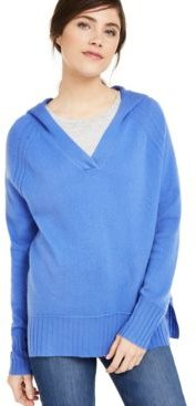 Cashmere Solid Hooded-Pullover, Created For Macy's