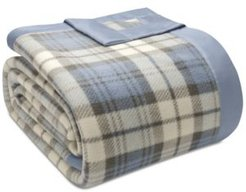 True North by Sleep Philosophy Plaid Micro-Fleece King Blanket Bedding