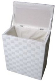 Natural Cord Lined Laundry Hamper
