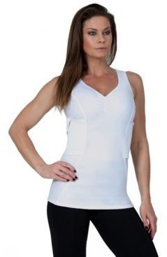 InstantFigure Compression Undercover Shirred Bust Top