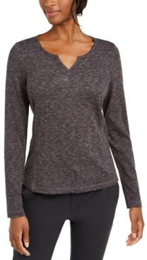 Space-Dyed Ribbed Active Top