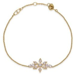 18k Gold-Plated Crystal Snowflake Link Bracelet, Created For Macy's