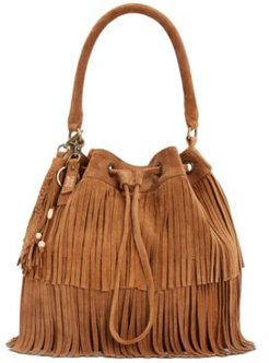 Frye and Co. Phoebe Frindged Suede Bucket Bag