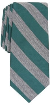 Meadow Skinny Textured Stripe Tie, Created For Macy's