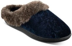 Boxed Patterned Velour Hoodback Slippers