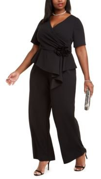 Plus Size Rosette Jumpsuit