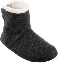 Isotoner Microsuede & Heathered Knit Marisol Boot Slipper, Online Only