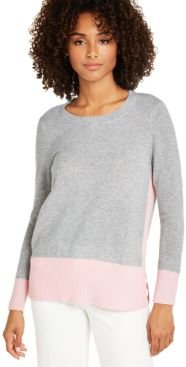 Colorblocked Cashmere Sweater, Created For Macy's